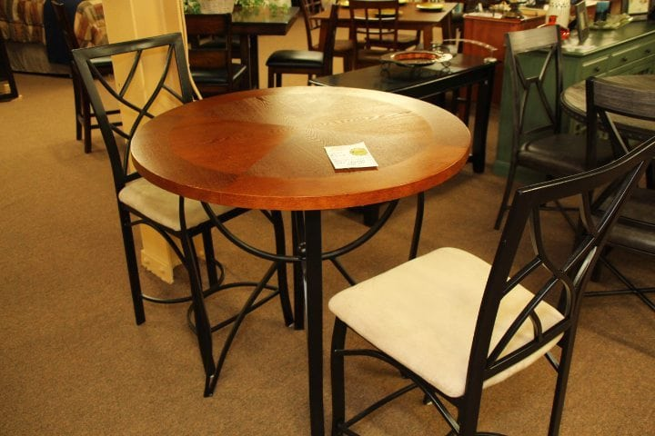 Pittsburgh Furniture Steve Silver Lite Cherry Pub round table