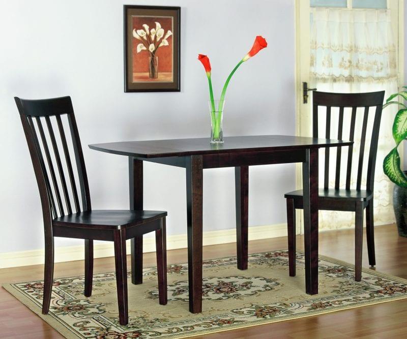 Chocolate brown dining set Pittsburgh Furniture
