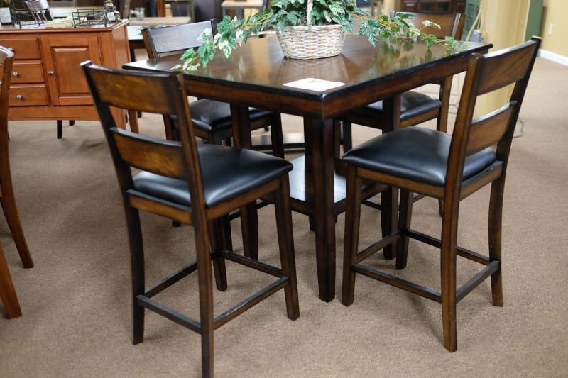 Standard Pendleton Pub Set Square dining room table with chairs Pittsburgh Furniture