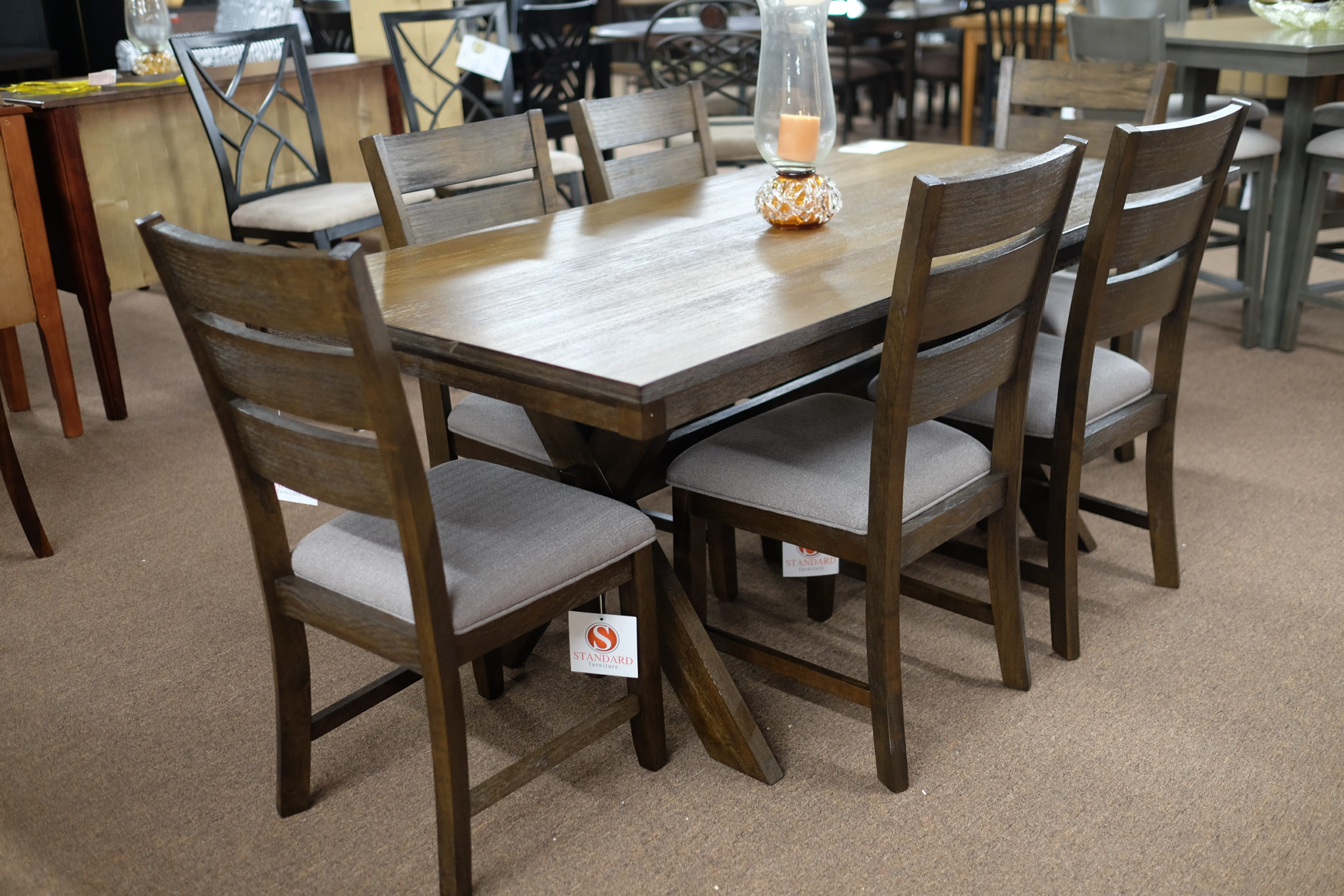 Standard Sherwood dinette with six chairs Pittsburgh Furniture