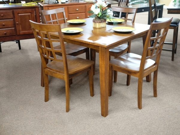 Jofran Simplicity Caramel finish five piece dinette set Pittsburgh Furniture