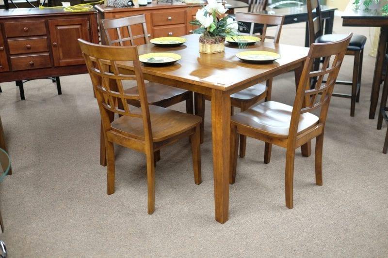 Jofran Simplicity Caramel finish five piece dinette set Pittsburgh Furniture
