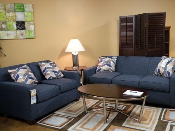 Fandango Indigo sofa and love seat Pittsburgh Furniture