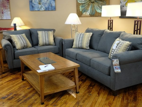 Halo gunmetal sofa and love seat Pittsburgh Furniture