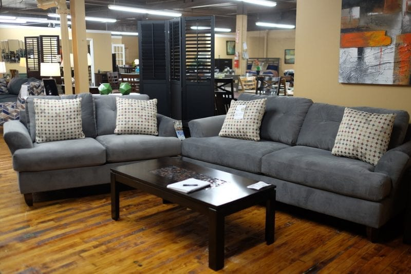 Oakley graphite sofa and love seat Pittsburgh Furniture