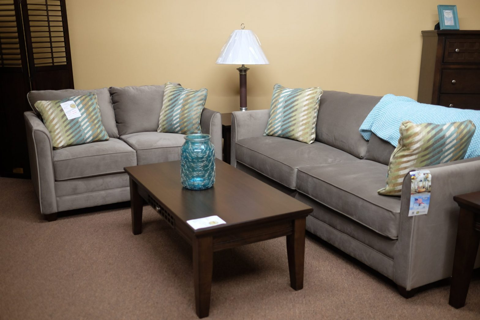Oakley Mocha Sofa And Loveseat Pittsburgh Furniture Leasing