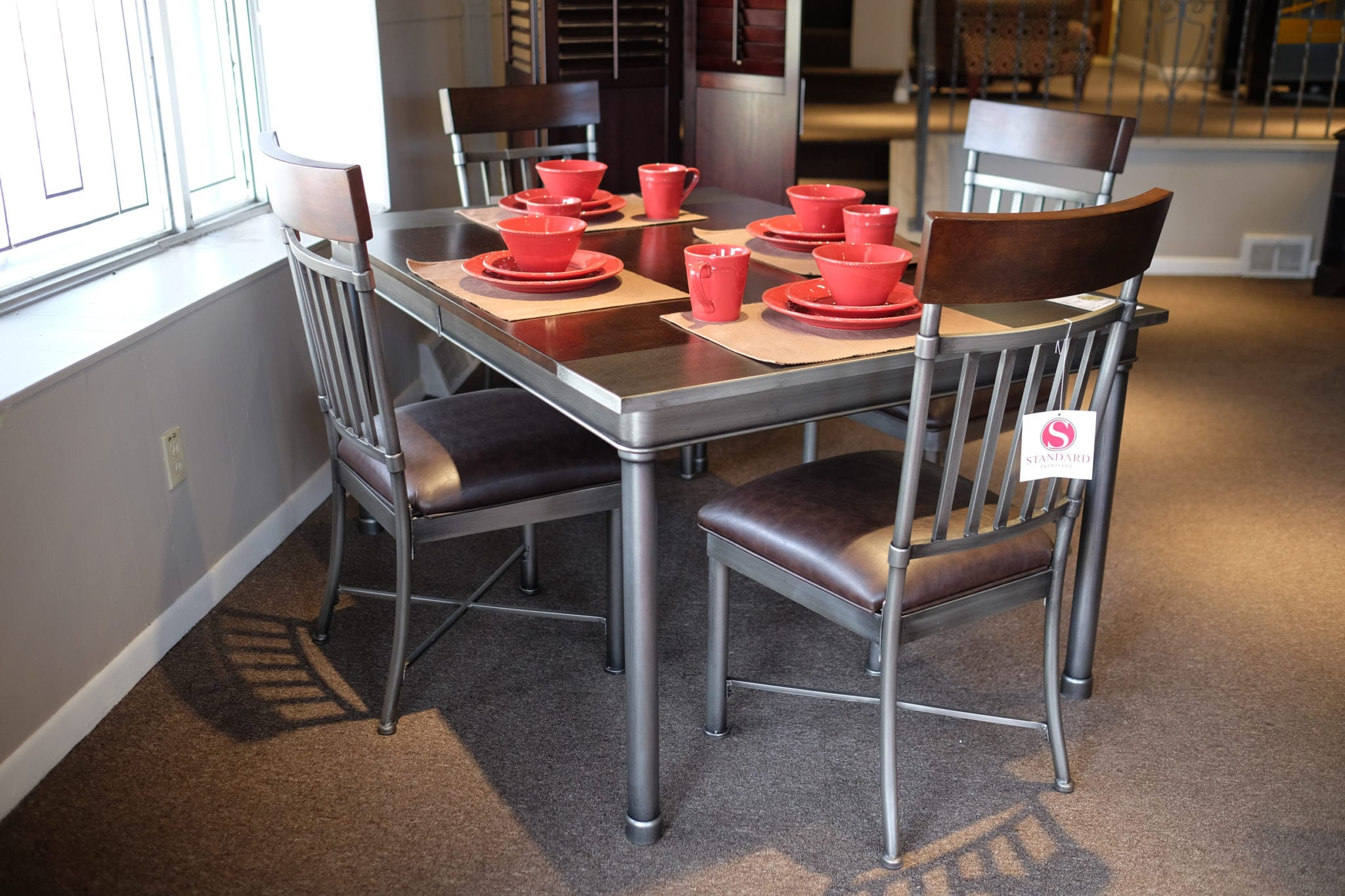 dining room furniture pittsburgh | Hudson Dinette with Leaf and 4 Chairs | Pittsburgh ...