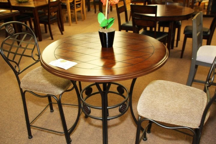 Pittsburgh Furniture Steve Silver cherry Pub Table and chairs set