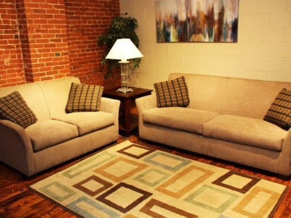 Broo Taupe love seat and sofa set