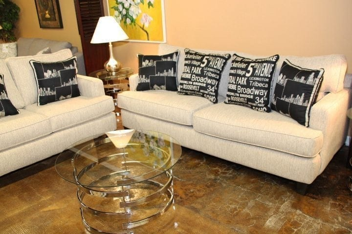 EZ Taupe Sofa & Love seat set