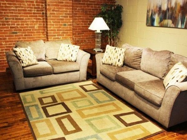 Fide Sade sofa and love seat set