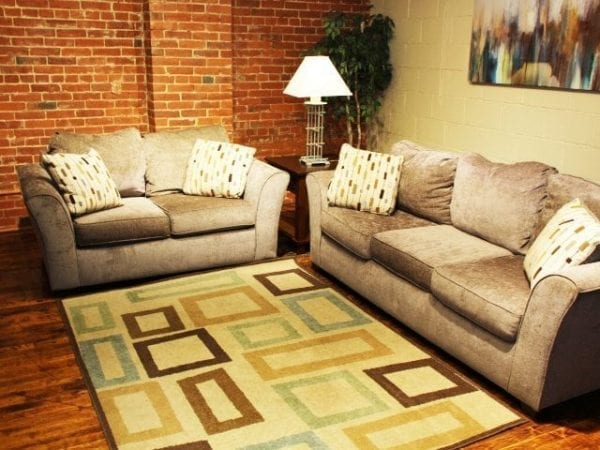 Fide Sade sofa and love seat set