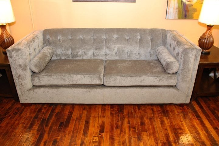 Gray Tuffted Sofa Pittsburgh Furniture