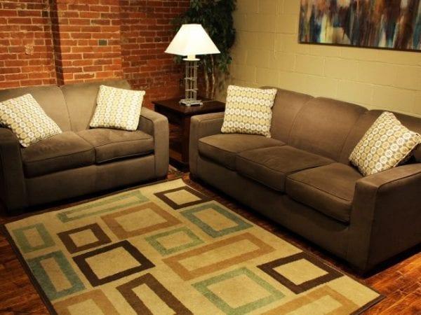 Halo Mola love seat and sofa set