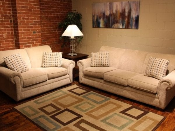 Loggy Sand love seat and sofa set