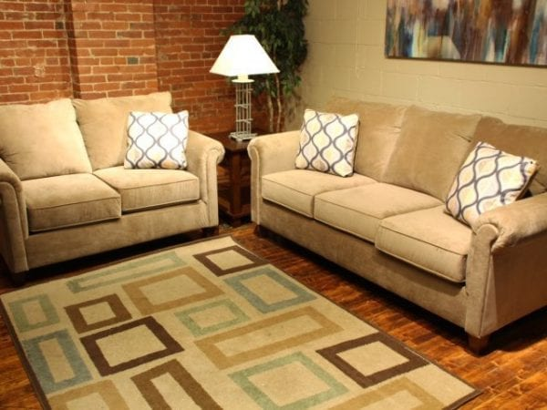 Nina Coffee love seat and sofa set
