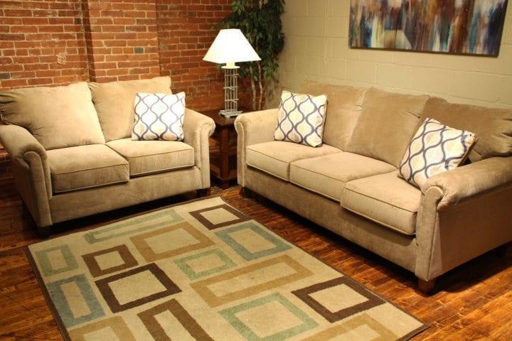 Nina Coffee love seat and sofa set