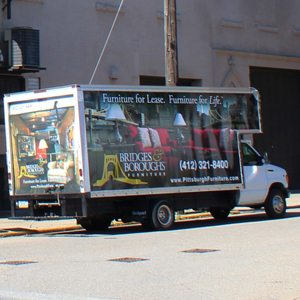 Pittsburgh Furniture Leasing & Sales delivery truck