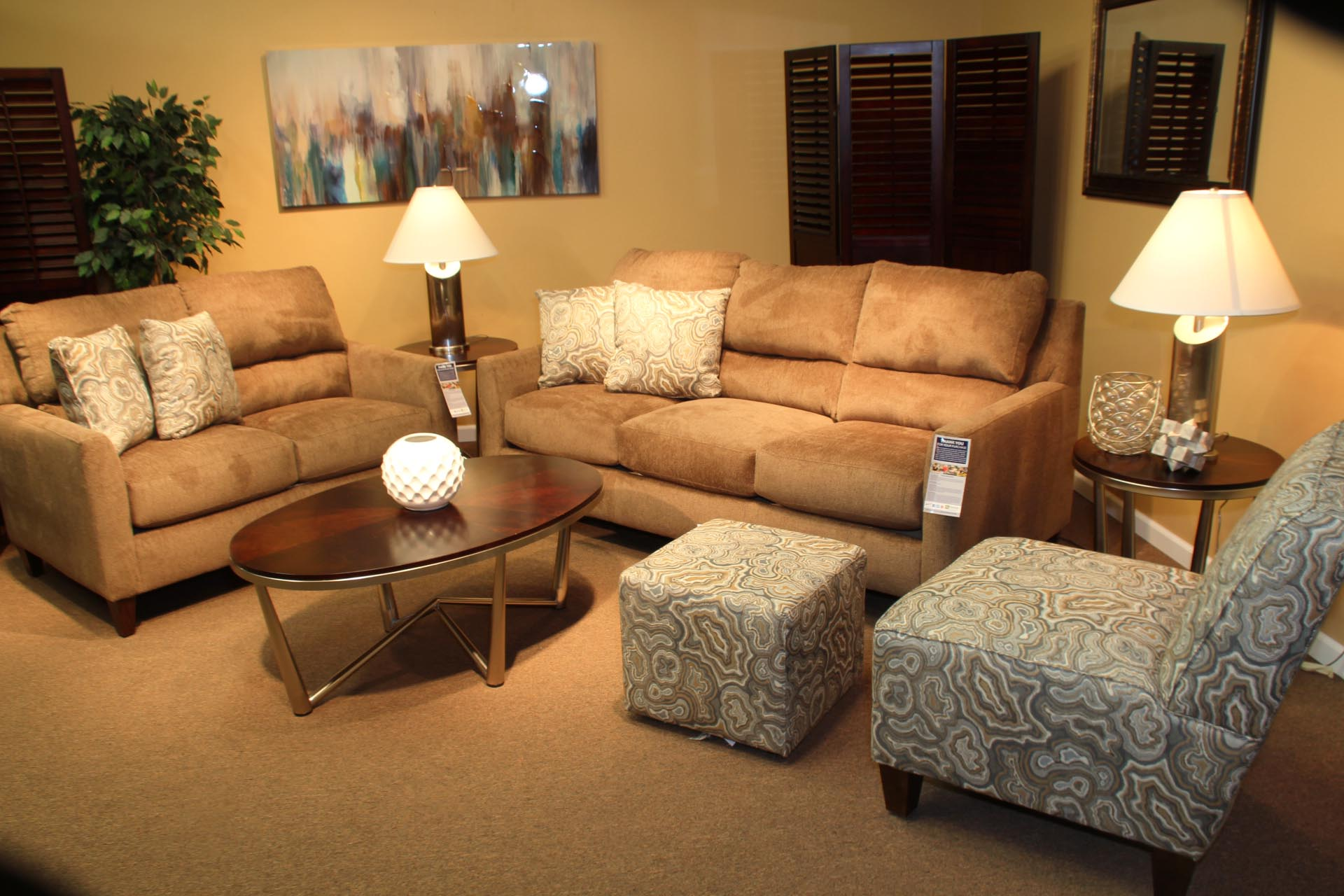 Pittsburgh Furniture living room set example 2