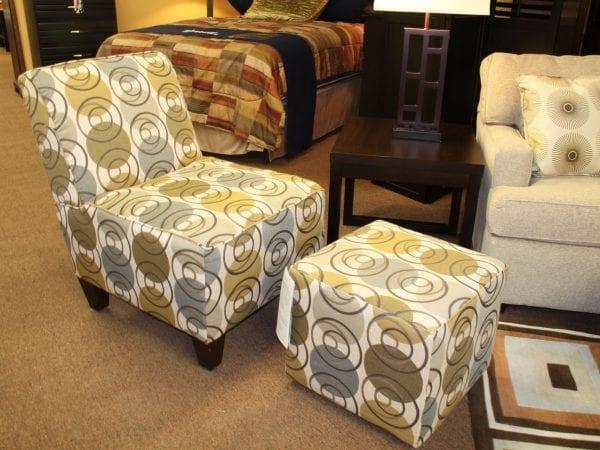 Pittsburgh Furniture love seat plus ottoman example