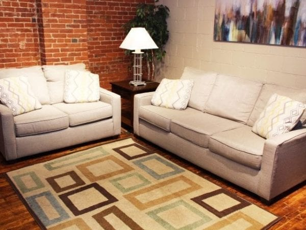 Pittsburgh Furniture Leasing & Sales Bounce Canvas sofa and love seat set
