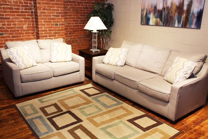 Bounce Canvas sofa and love seat set