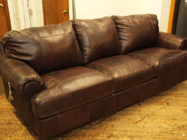 Ashley brown Leather Sofa Pittsburgh Furniture