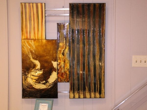 Abstract wall hanging canvas available for lease at Pittsburgh Furniture Leasing