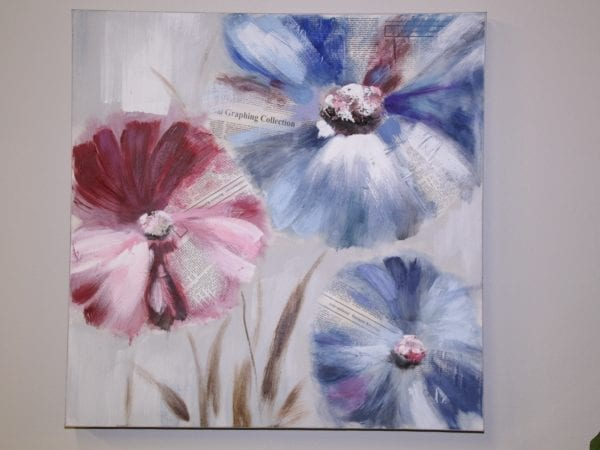 pastel flower canvas available for lease at Pittsburgh Furniture Leasing