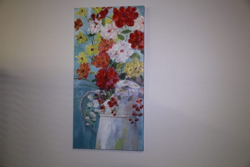 watercan flower canvas available for lease at Pittsburgh Furniture Leasing