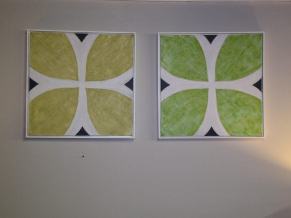 Yellow and Green matching pictures available for lease at Pittsburgh Furniture Leasing