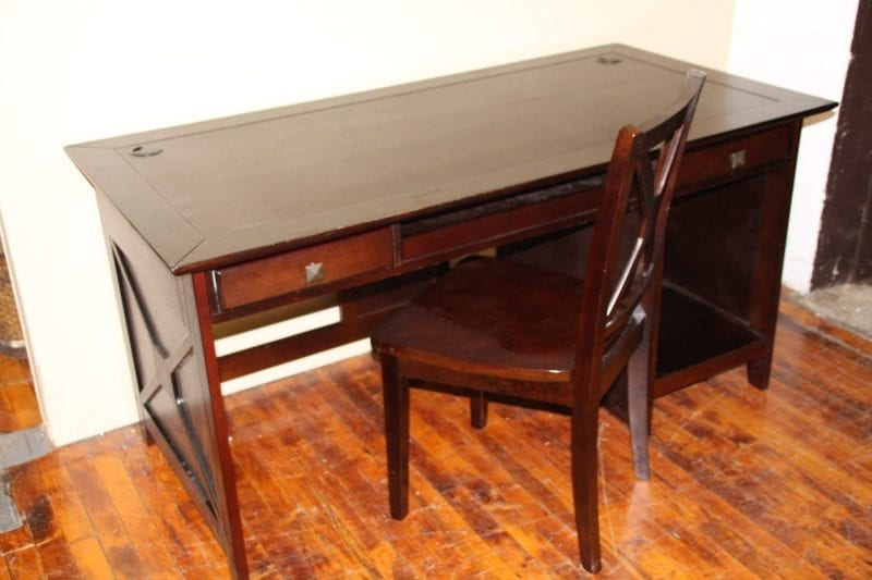 Home elegance espresso computer desk and chair available for lease at Pittsburgh Furniture Leasing
