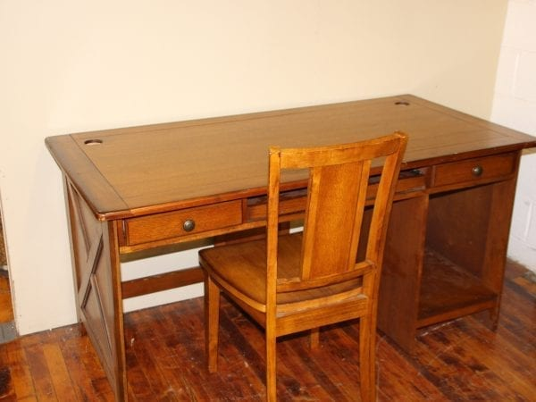 Elegance Oak Computer Desk & Chair available for lease at Pittsburgh Furniture Leasing