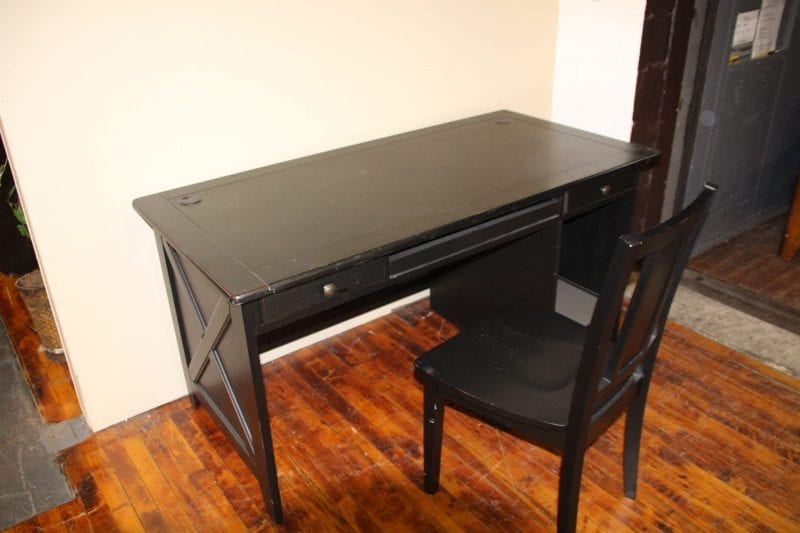 Home Elegance computer desk and chair available for lease at Pittsburgh Furniture Leasing