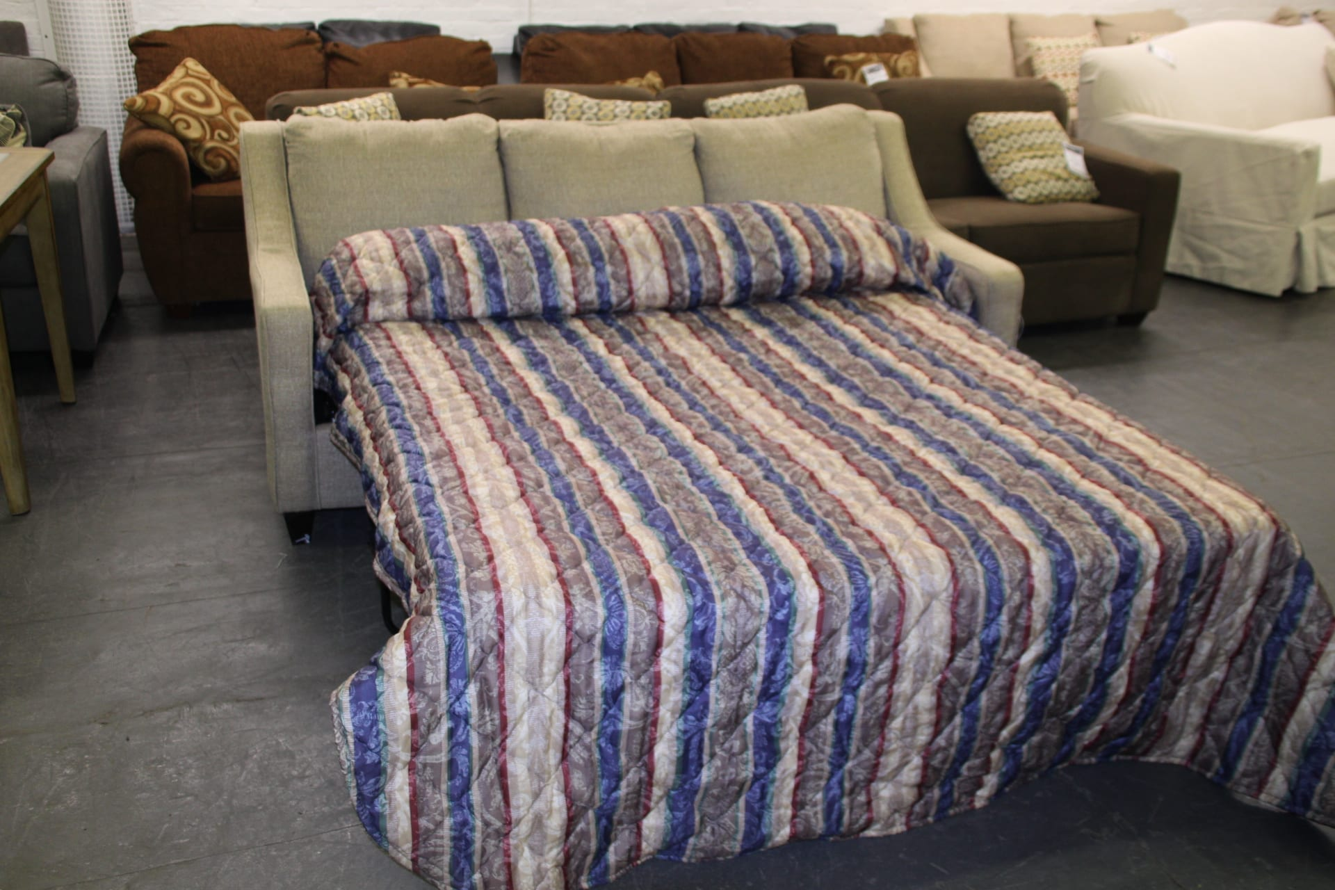 Queen Sofa bed upgrade available at Pittsburgh Furniture Leasing