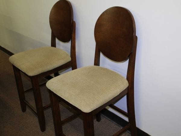 Jofran Cherry Barstools available for lease at Pittsburgh Furniture Leasing