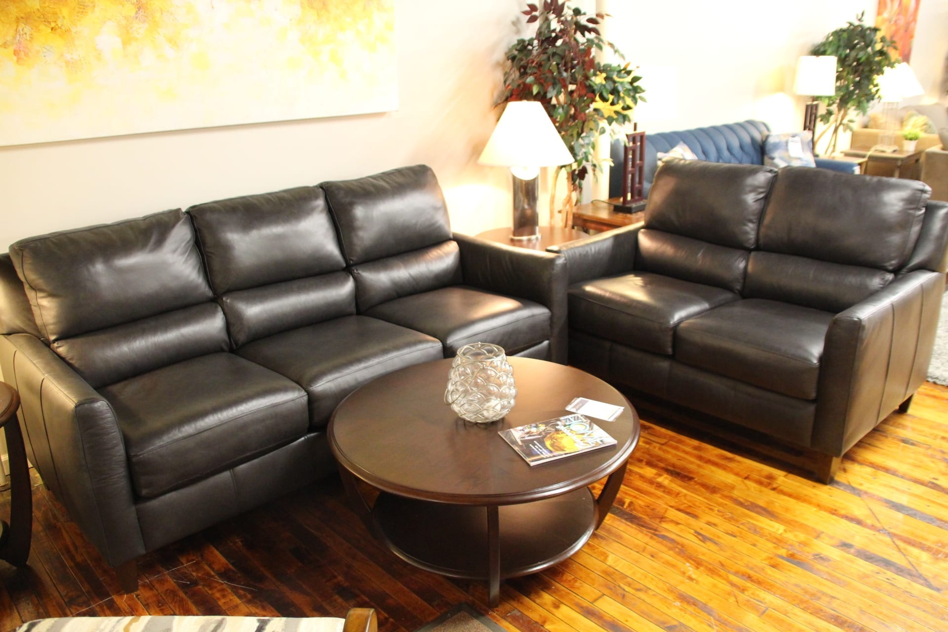 Upgrade your living room couch to leather at Pittsburgh Furniture Leasing