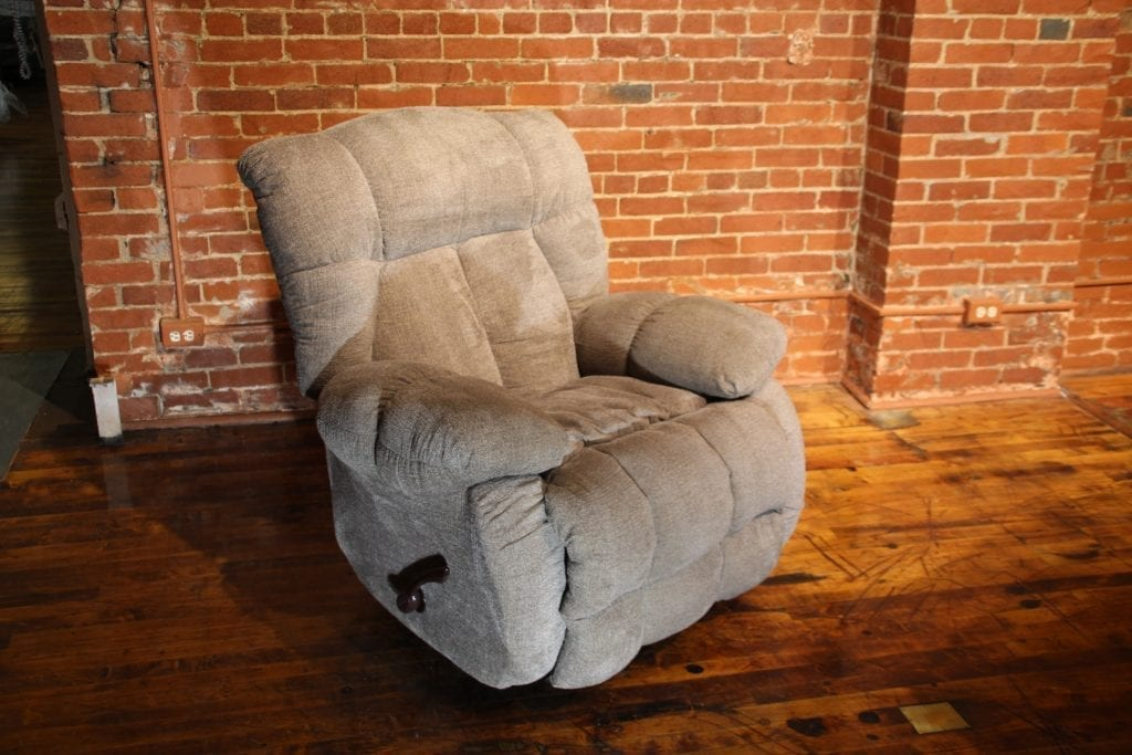 Tan Upholstered Recliner available for lease at Pittsburgh Furniture Leasing