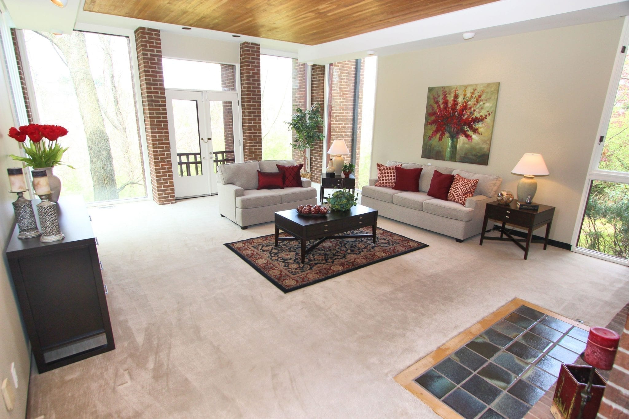 Aquantas Interiors Home Staging Services provided by Pittsburgh Furniture Leasing.