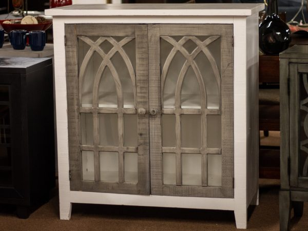awf white and gray accent cabinet
